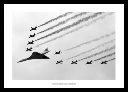 Concorde & Red Arrows Golden Jubilee Flyover Photo