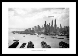 The Hindenburg 1937 Flight over Manhattan Photo