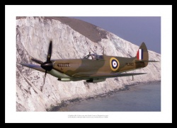 Spitfire Flying over South Coast Aviation Photo