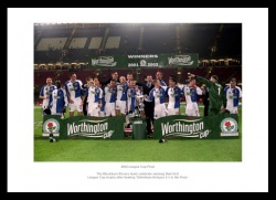 Blackburn Rovers 2002 League Cup Final Team Photo Memorabilia