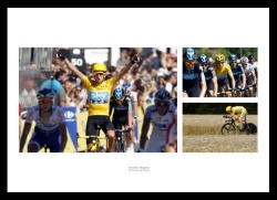 Bradley Wiggins 2012 Tour de France Photo Memorabilia Montage