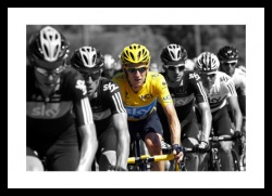Bradley Wiggins & Team Sky Spot Colour Photo Memorabilia
