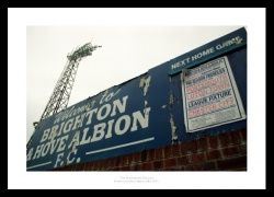Brighton FC Goldstone Ground Photo Memorabilia