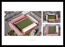 Bristol City Ashton Gate Aerial Photo Memorabilia Montage