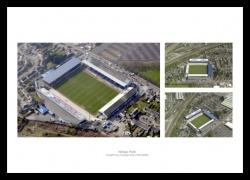 Cardiff City Ninian Park Aerial Views Photo Memorabilia