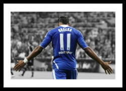 Didier Drogba 2012 Champions League Final Spot Colour Photo Memorabilia