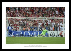 Drogba's Penalty Chelsea 2012 Champions League Photo Memorabilia