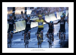 Chris Froome & Team Sky 2013 Tour de France Photo Memorabilia