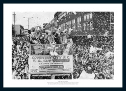Coventry City 1987 FA Cup Final Open Top Bus Photo Memorabilia