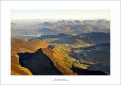 Lake District Crag Hill to Derwentwater Aerial Landscape Photograph