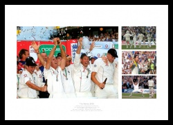 Ashes 2005 England Cricket Team Photo Memorabilia Montage