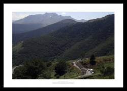 Tour de France - Pyrenees Mountains Cycling Photo Memorabilia