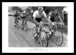 Eddy Merckx 1969 First Tour de France Victory Photo Memorabilia
