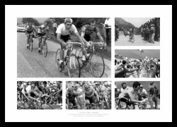 Tour de France Legends Cycling Photo Memorabilia Montage