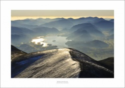 Lake District Derwentwater Aerial Landscape Photograph