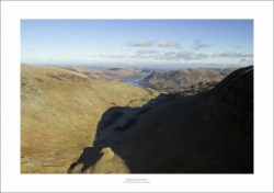 Lake District Grisedale Valley Aerial Landscape Photograph