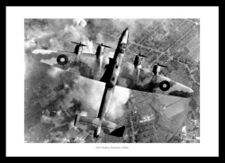 RAF Halifax Bomber 1940 World War 2 Photo