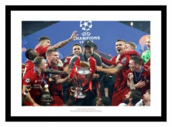 Liverpool FC 2019 Champions League Final Klopp & Team Photo Memorabilia