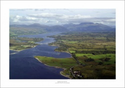 Loch Etive Falls of Lora Scotland Aerial Landscape Photograph