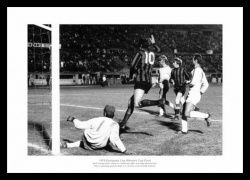 Manchester City 1970 European Cup Winners Cup Goal Photo Memorabilia