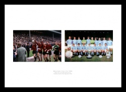 Manchester City 1960s Legends Photo Memorabilia