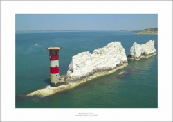 Needles Lighthouse, Isle of Wight Aerial Landscape Photograph