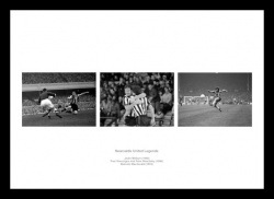 Newcastle United Legends Triple Photo Memorabilia