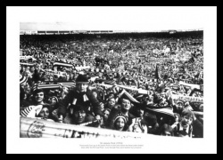 Newcastle United Fans at St James Park Stadium 1974 Photo Memorabilia
