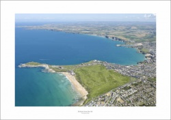 Newquay Bay, Cornwall Aerial Landscape Photograph