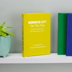 Personalised Norwich City 'On This Day' Book