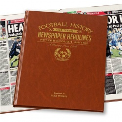 Personalised Peterborough United Historic Newspaper Memorabilia Book