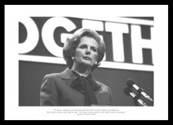 Margaret Thatcher 'The Lady is Not for Turning' 1980 Print