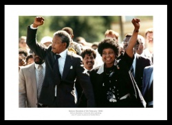Nelson Mandela is Released from Prison Historic Photo