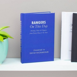 Personalised Rangers 'On This Day' Book