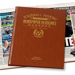 Personalised Rangers FC Historic Newspaper Memorabilia Book