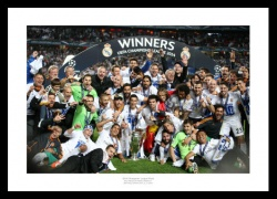 Real Madrid 2014 Champions League Final Team Photo Memorabilia