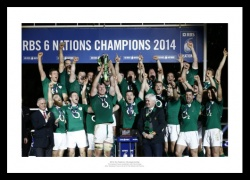 Ireland Rugby 2014 Six Nations Team Photo Memorabilia