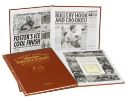 Personalised Bradford Bulls Rugby League Historic Newspaper Memorabilia Book