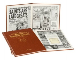 Personalised St Helens Rugby League Historic Newspaper Memorabilia Book