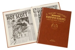 Personalised Leicester Tigers Rugby Historic Newspaper Memorabilia Book