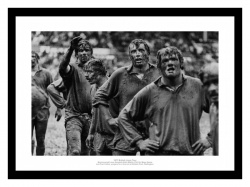 British Lions Mud Covered Forwards 1977 Rugby Photo Memorabilia