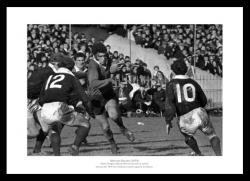 Mervyn Davies 1970 Five Nations Wales Rugby Photo Memorabilia