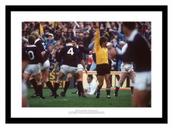 Scotland Rugby 1990 Five Nations Grand Slam Winning Try Photo Memorabilia