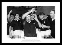 Scotland 1990 Five Nations Grand Slam Photo Memorabilia