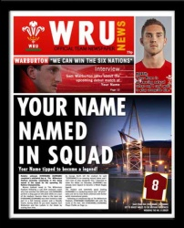 Wales Rugby Personalised Newspaper Front Page