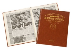 Personalised London Wasps Rugby Historic Newspaper Memorabilia Book