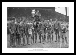 Warrington 1955 Rugby League Challenge Cup Final Photo Memorabilia