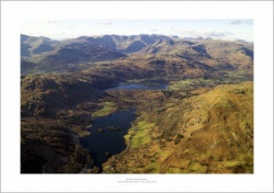 Lake District Rydal Water & Grasmere Aerial Landscape Photograph