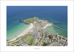St Ives,Cornwall Aerial Landscape Photograph