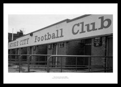 Stoke City Victoria Ground 1980 Historic Stadium Photo Memorabilia